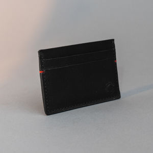 VINTAGE LEATHER CREDIT CARD HOLDER, Black
