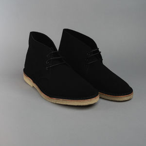 Crown Northampton Desert Boot Black Suede