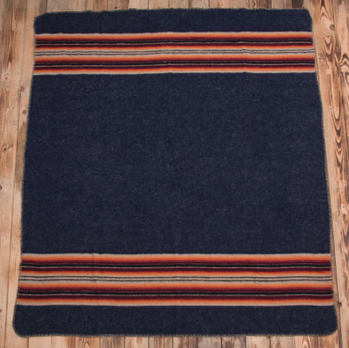 Pike Brothers 1969 Denakatee wool blanket navy