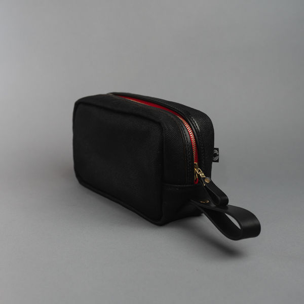 CROOTS WASHBAG, VINTAGE CANVAS, BLACK